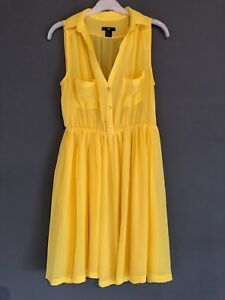 2405ad30f19 EUR 40 H M YELLOW SHIRT DRESS TOWIE SUMMER PARTY FESTIVAL HOLIDAY ...