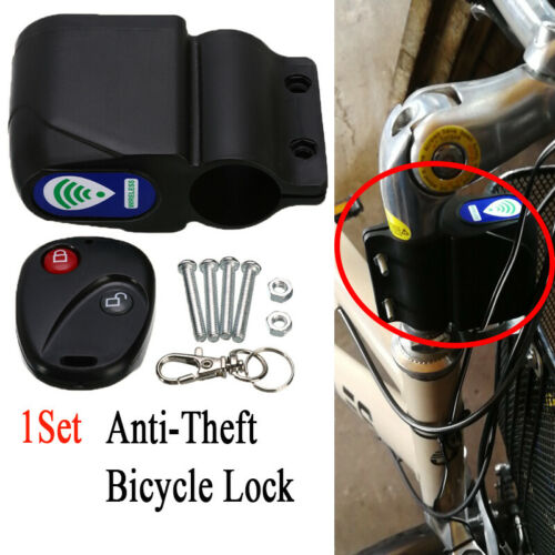 Anti-theft Bike Lock Cycling Security Remote Control Bicycle Vibration Alarm