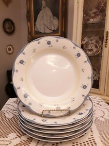 PFALTZGRAFF-SHELBY-SET-OF-6-LARGE-8-1-2-034-SALAD-SNACK-OR-LUNCH-PLATES-NEAR-MINT