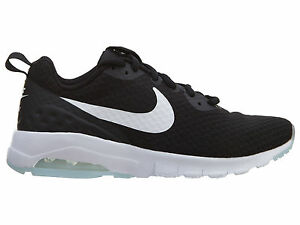 sports shoes 1f341 e3931 Nike Air Max Motion Low Womens 833662-011 Black White Running Shoes ...