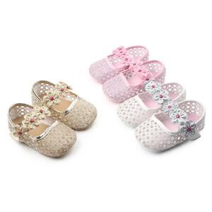 NEUF-bebe-filles-Premium-brillants-Chaussures-de-fete-en-Rose-Or-3-6-9-12-mois