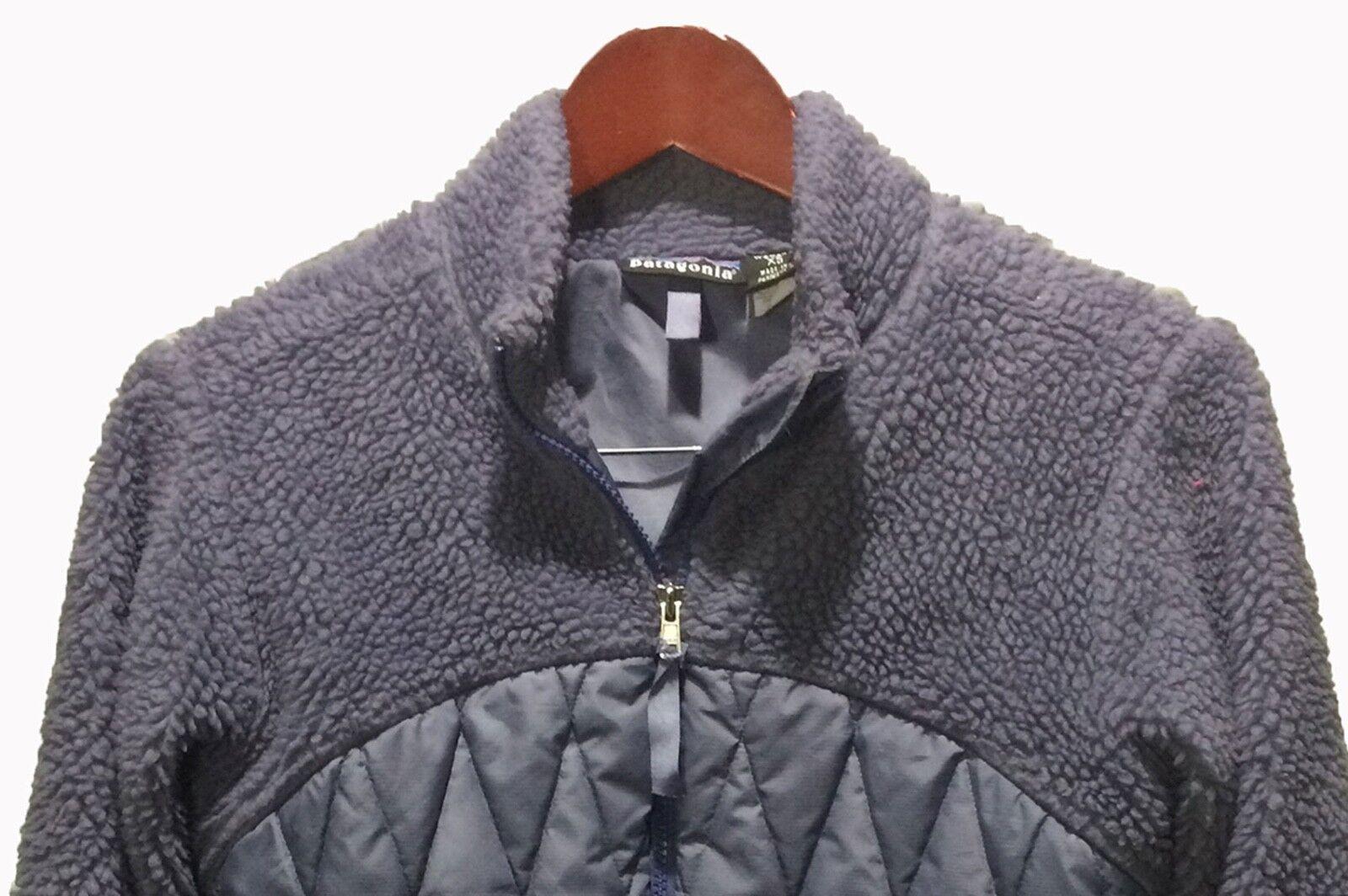 PATAGONIA Cardigan Full Zip Fleece Sweater Purple Women's Size XS