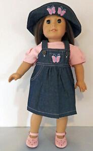 Denim Embroidered 2pc Skort Set  Fits American Girl Doll