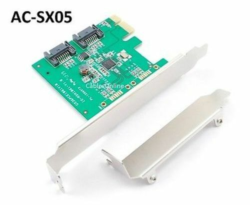 ASM1061 Chipset SATA III 2-Internal Ports PCI-e 6Gbps Controller Card