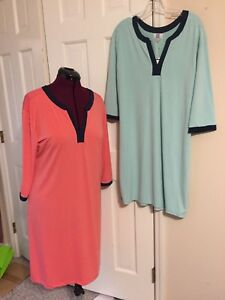 MARY-SQUARE-LADIES-BOUTIQUE-DRESS-3-4-SLEEVES-V-NECK-POLYESTER-SPANDEX-MINT-CORA