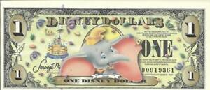 Disney 1 dollar note 2005 Dumbo