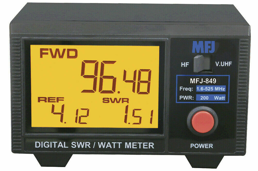 New MFJ-849 Digital SWR/Wattmeter , HF/VHF/UHF,1.6-60 & 125-525 MHz  MHz 200W.