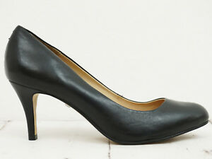 BUFFALO-London-Damen-Pumps-Gr-39-Echtleder-Schwarz-Leather-Shoes