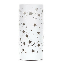 White Stars and Circles Table Lamp Bedside Lamp Kids Bedroom Lighting