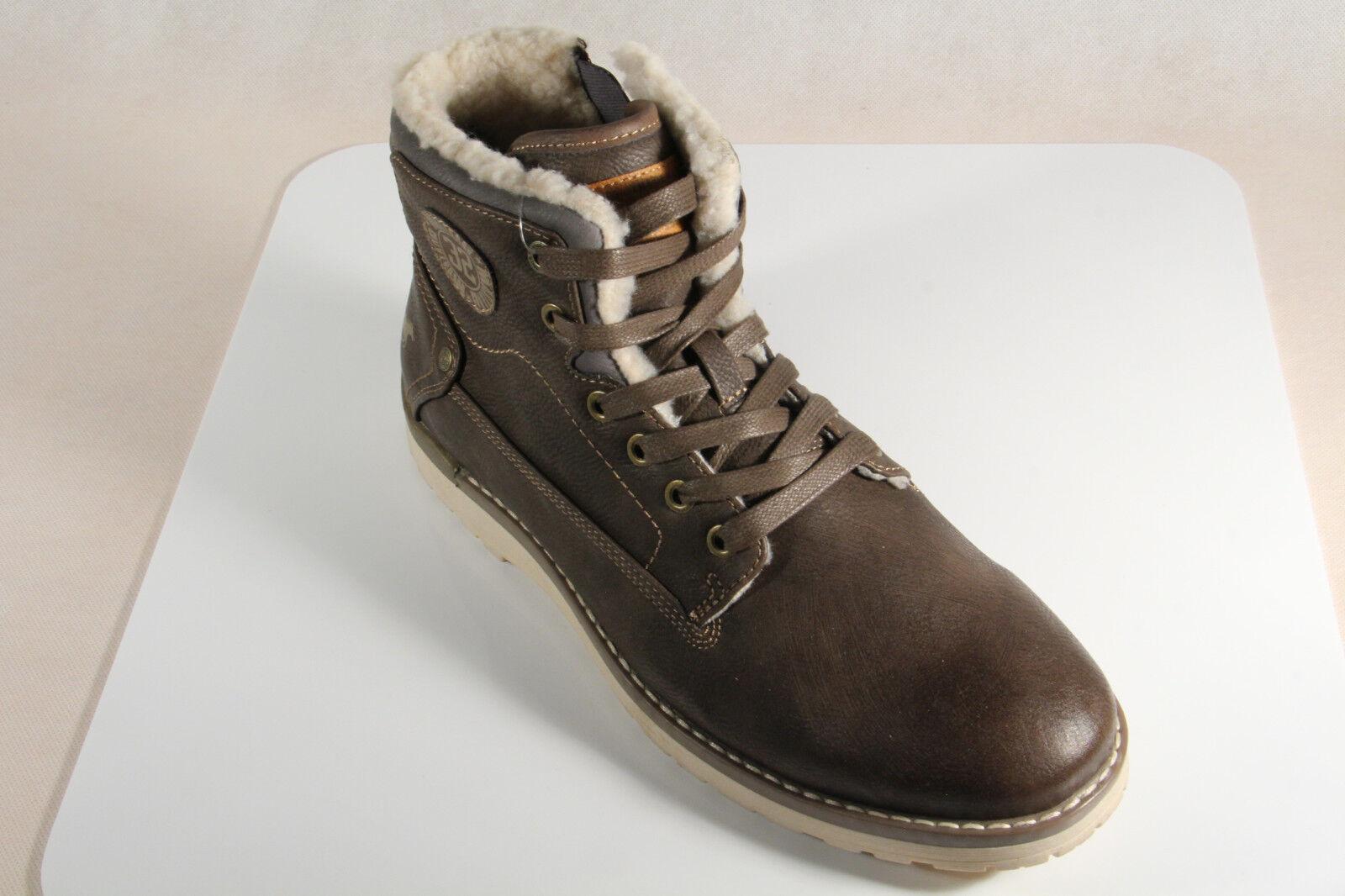 Mustang Stiefel Boots NEU Schnürstiefel Winterstiefel dunkelbraun 4092 NEU Boots ae5e86