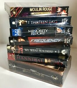 NEW-Sealed-VHS-Movie-Lot-7-2000-039-s-Hit-Movies-Hannibal-Frequency-13-Days