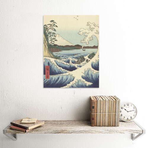 Hiroshige Seascape In Satta In Province Of Suruga Canvas Wall Art Print Poster