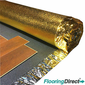 30m roll sonic gold 5mm acoustic underlay for wood for Laminate wood flooring roll