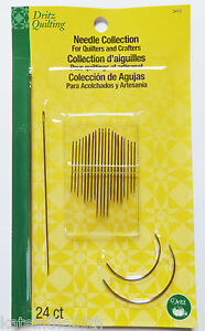 Dritz-Needle-Collection-For-Quilters-amp-Crafters-24-Needles-Assortment-Pack