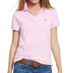 low priced 1a99d 2ec4f Details zu Nwt Polo Ralph Lauren Damen Klassische Passform Kurzarm Polohemd  XS Carmel Pink