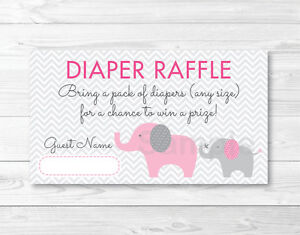 photograph regarding Printable Diaper Raffle Tickets known as Data relating to Purple Elephant Chevron Mother Boy or girl Printable Boy or girl Shower Diaper Raffle Tickets