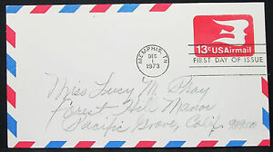 US-Postal-Stationery-Airmail-Cover-Memphis-FDC-GS-USA-Lupo-First-Day-H-10197