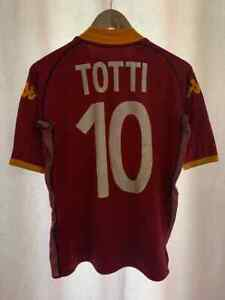 AS ROMA ITALY 2002/2003 HOME FOOTBALL SHIRT JERSEY MAGLIA SIZE M TOTTI #10