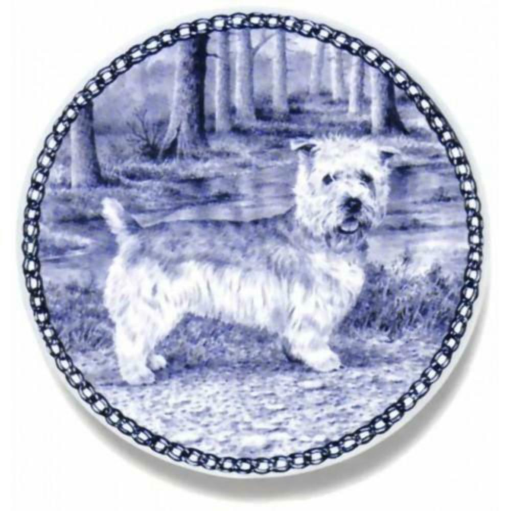 Glen of Imaal Terrier  Dog Plate made in Denmark from the finest European Porce