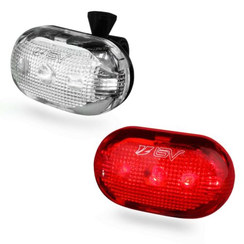 BV Bike 5 LED Front Head /& Tail Flash light Set  BV-L805-R 5 Pack