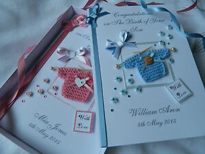 Personalised handmade new baby boygirl christening 1st birthday image is loading personalised handmade new baby boy girl christening 1st bookmarktalkfo Image collections