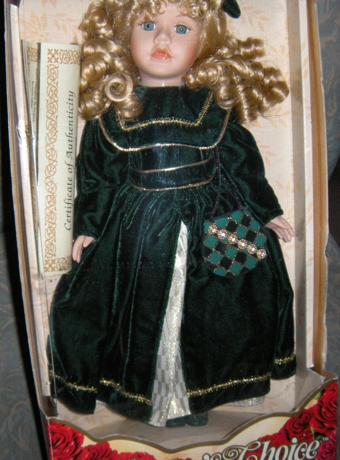Collector's Choice Genuine Fine Bisque Porcelain Doll 16