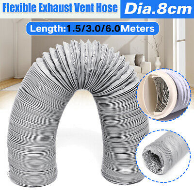 Ducting Pipe Hose Conditioner Exhaust Pipe 3//6Meters Ventilation Flexible