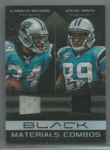 Details about STEVE SMITH SR. DeAngelo Williams Jersey GU 2012 UD Black 40/50!! Panthers HOF