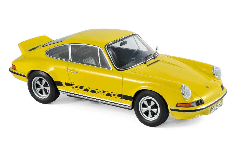 NOREV 187638 PORSCHE 911 RS Touring 1973 jaune noire DECO 1 18 Nouveau Neuf dans sa boîte