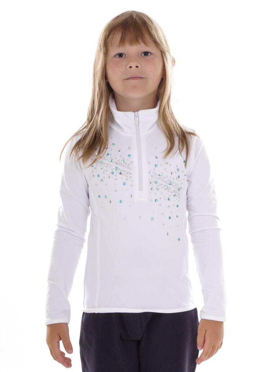 CMP Sweatshirt Top  Long Sleeve Shirt White Sequin Zipper Stretch  sale with high discount