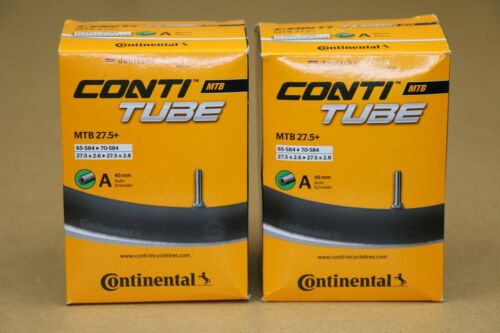 Two Pack Continental 27.5 x 2.6-2.8 Inner Tubes 42mm Schrader Valve 27.5+