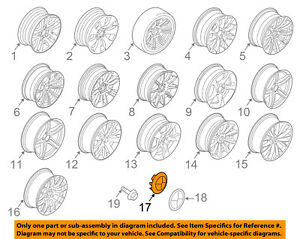 BMW OEM 96-00 328i-Wheel Center Cap Hub Cover 36136783536