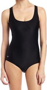 Speedo-Womens-Swimwear-Black-Size-14-PowerFlex-Ultraback-One-Piece-68-431