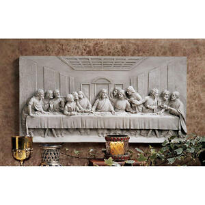 The-Last-Supper-12-034-Design-Toscano-Wall-Frieze-Finished-In-Patina-Of-Aged-Stone