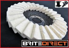 "10x Flap Felt Discs 125x22 5"" Polishing Angle Grinder Buffing Wheel Metal Alloy"