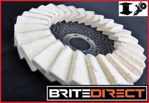 Aleta-de-fieltro-disco-125-5-034-Amoladora-Angular-Pulido-rueda-que-pulimenta-Metal-Mejor-Precio