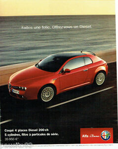 PUBLICITE ADVERTISING 096  2002  Alfa Romeo  le coupé Brera 4 places