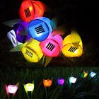 Solar Powered Tulip Flower LED Light Yard Garden Path Landscape Lamp Grass Decor