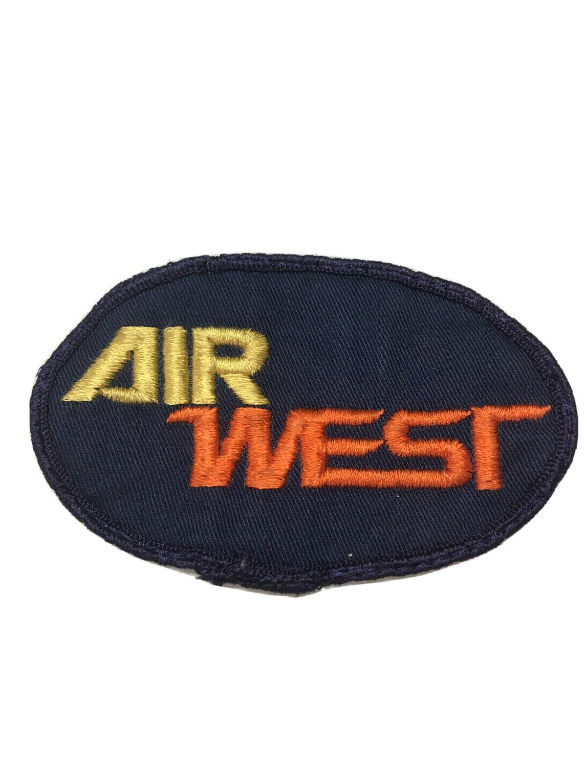 AIR WEST AIRLINES LARGE PATCH FOR UNIFORM OR COAT. VINTAGE AND PRE-OWNED