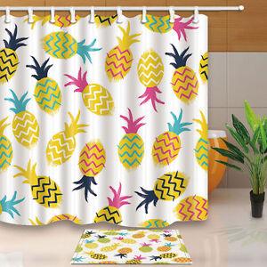 Image Is Loading Tropic Fruits Pineapple Shower Curtain Bedroom Decor Waterproof