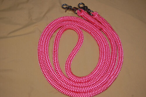 ASSORTED LENGTHS PINK YACHT ROPE FINESSE REIN FOR PARELLI METHOD