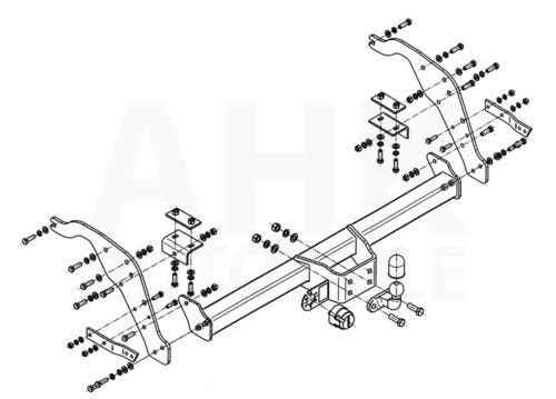 Ford Ranger für Trittbrett 12-15 Anhängerkupplung starr ABE