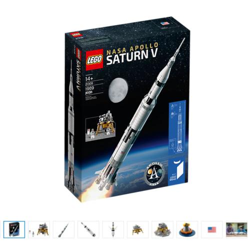 Nuovo LEGO 21309 Space Ideas NASA Apollo Saturn V