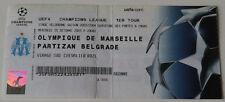 Ticket collectors CL Olympique Marseille OM Partizan Beograd 2003 France Serbia
