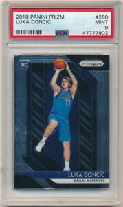 LUKA-DONCIC-2018-19-PANINI-PRIZM-280-RC-ROOKIE-DALLAS-MAVERICKS-SP-PSA-9-MINT