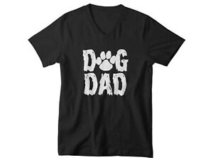 V-neck-Dog-Dad-T-Shirt-Dog-Cat-Daddy-T-Shirt-Father-039-s-Day-Pet-Dad-Fathers-Gift