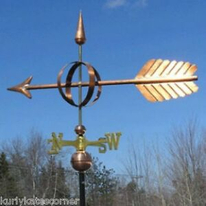 Copper Large Quot Sphere Arrow Quot Weathervane Made In Usa 209