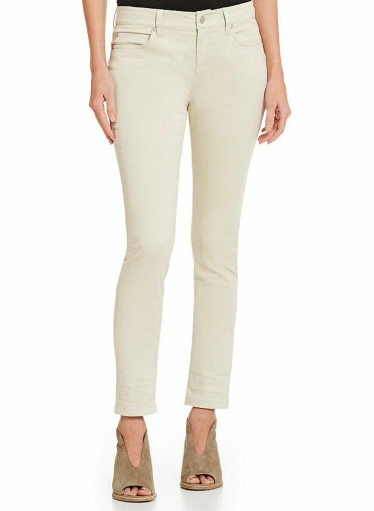 NWT Eileen Fisher Organic Cotton Skinny Jeans Seasalt Size 10P MSRP  198