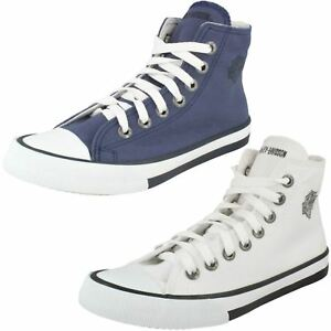 Ladies Flora Canvas Hi Top Trainers By Harley Davidson £19.99
