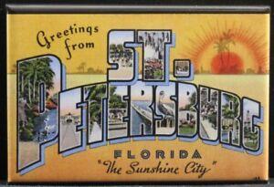 "Greetings from Florida Vintage Postcard 2/"" X 3/"" Fridge Locker Magnet."